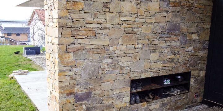 Stein: Natursteinmauer